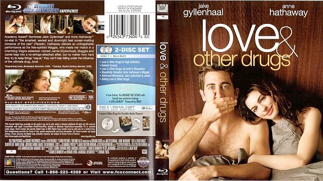 dvd cover Love & Other Drugs Bluray Cover