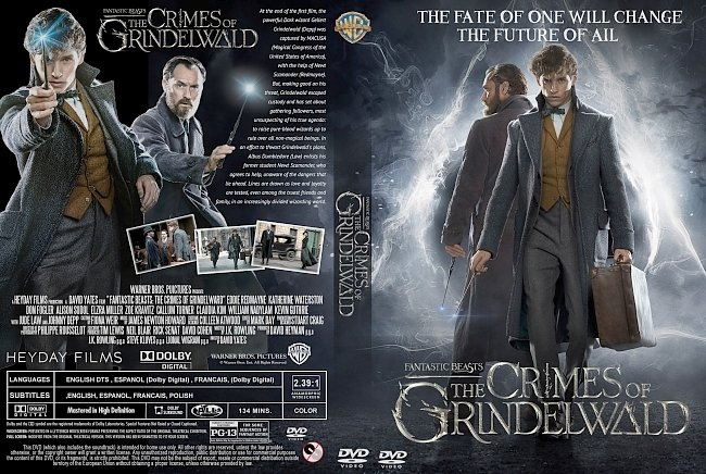 dvd cover Fantastic Beasts: The Crimes of Grindelwald DVD Cover