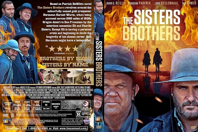 dvd cover The Sisters Brothers DVD Cover