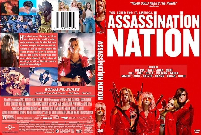 dvd cover Assassination Nation DVD Cover