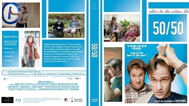dvd cover 50/50 Bluray Cover
