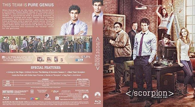 dvd cover Scorpion Season 1 Bluray Cover