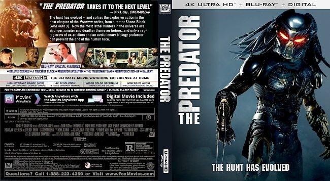 dvd cover The Predator 4k Bluray Cover