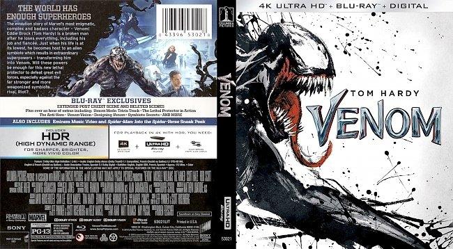 dvd cover Venom 4k Bluray Cover