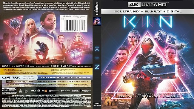dvd cover Kin 4k Bluray Cover