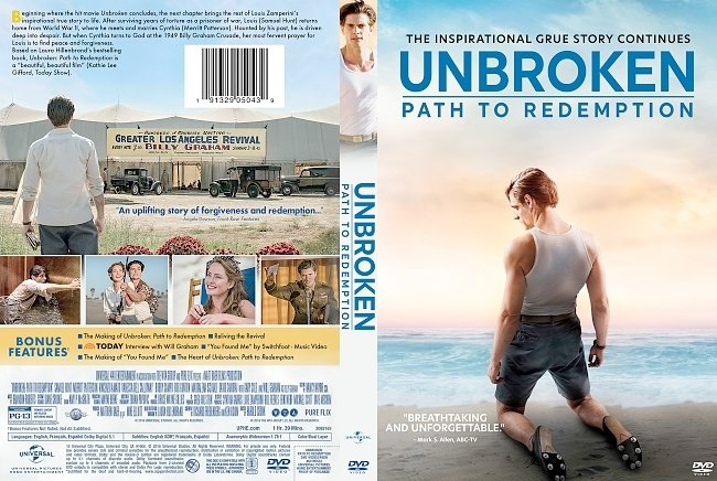 dvd cover Unbroken: Path to Redemption DVD Cover