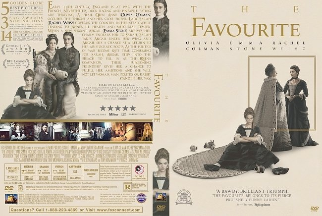dvd cover The Favourite DVD Cover