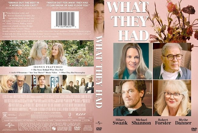 dvd cover What They Had DVD Cover