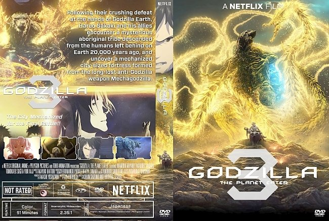 dvd cover Godzilla 3 The Planet Eater DVD Cover