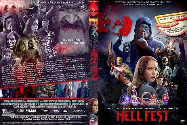 dvd cover Hell Fest DVD Movie Cover
