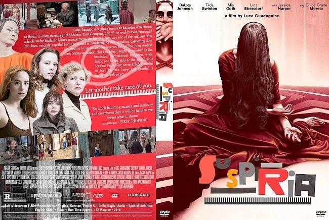 dvd cover Suspiria DVD Movie Cover