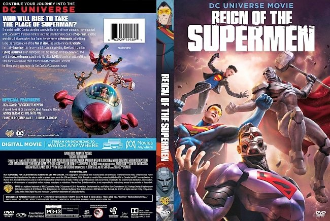 dvd cover Reign of the Supermen DVD Cover