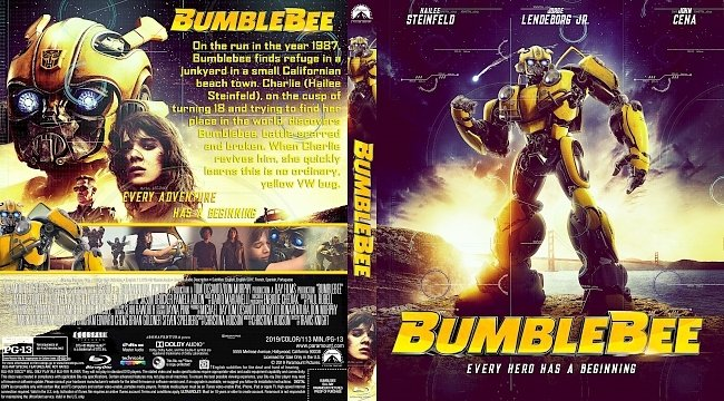 dvd cover Bumblebee Bluray Cover
