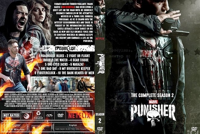dvd cover The Punisher Season 2 DVD Cover