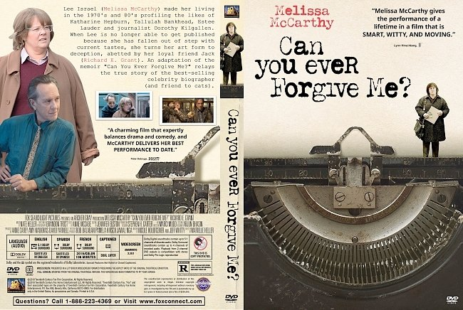dvd cover Can You Ever Forgive Me? DVD Cover
