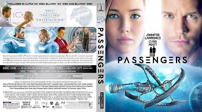 dvd cover Passengers 4K Bluray Cover