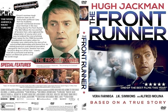 dvd cover The Front Runner DVD Cover