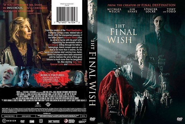 dvd cover The Final Wish DVD Cover