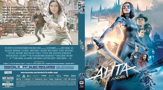 dvd cover Alita Battle Angel Bluray Cover