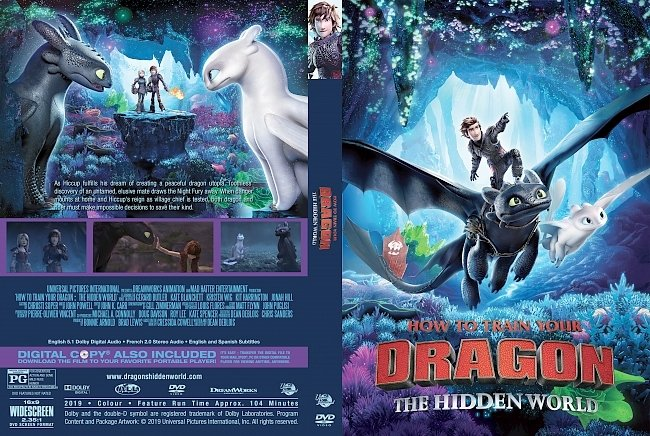 dvd cover How to Train Your Dragon The Hidden World DVD Cover