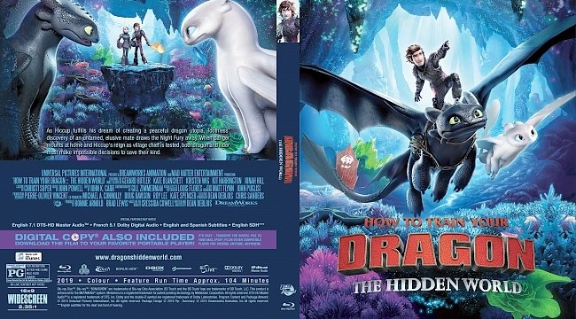 dvd cover How to Train Your Dragon The Hidden World Bluray Cover