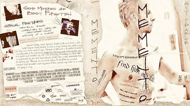 dvd cover Memento Bluray Cover