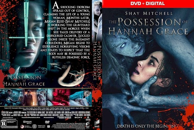 dvd cover The Possession of Hannah Grace DVD Cover