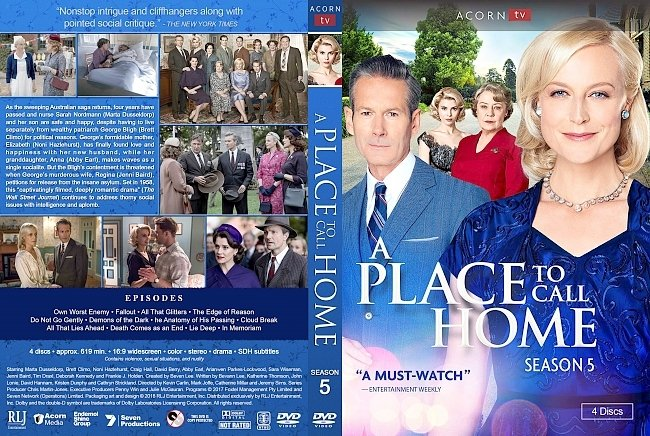 dvd cover A Place to Call Home Season 5 DVD Cover
