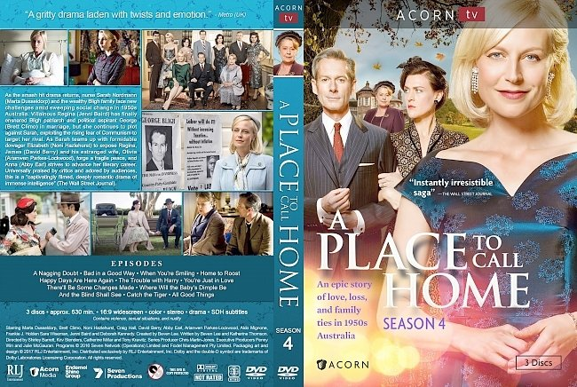 dvd cover A Place to Call Home Season 4 DVD Cover