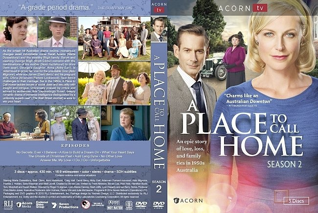 dvd cover A Place to Call Home Season 2 DVD Cover