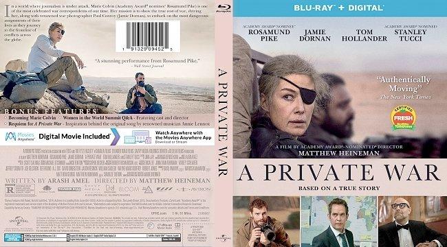 dvd cover A Private War Bluray Cover
