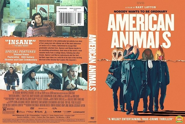 dvd cover American Animals DVD Cover