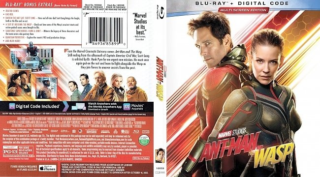dvd cover Ant-Man and the Wasp Bluray Cover