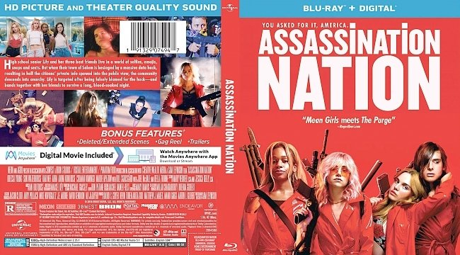 dvd cover Assassination Nation Bluray Cover