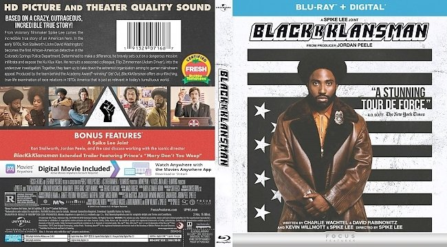 dvd cover BlacKkKlansman Bluray Cover