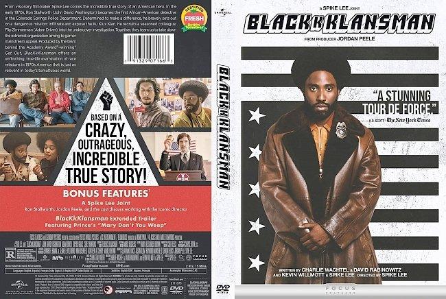 dvd cover BlacKkKlansman DVD Cover