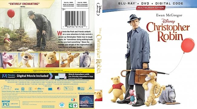 dvd cover Christopher Robin Bluray Cover