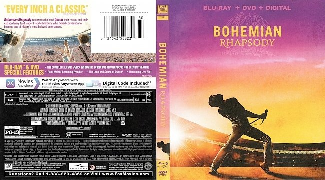 dvd cover Bohemian Rhapsody Bluray Cover