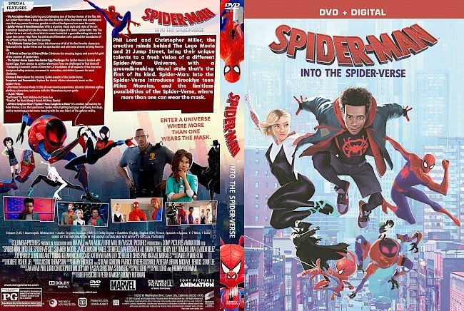dvd cover Spider-Man: Into the Spider-Verse DVD Cover