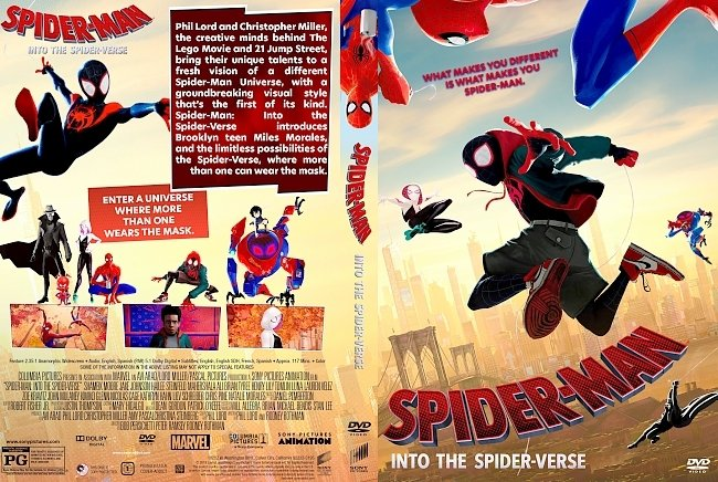 dvd cover Spider Man Into the Spider Verse DVD Cover