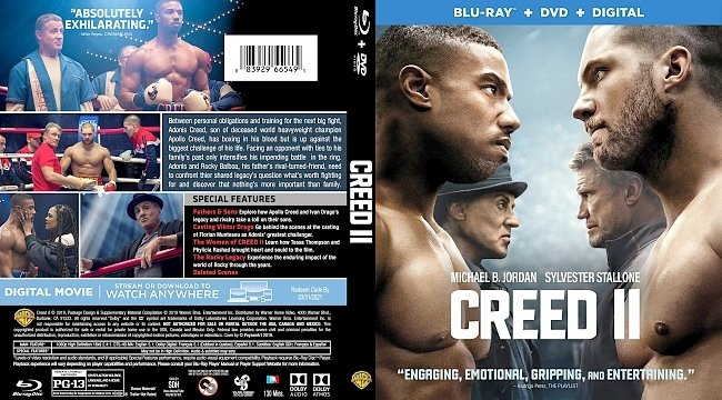 dvd cover Creed II Bluray Cover