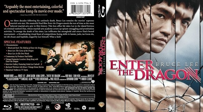 dvd cover Enter the Dragon Bluray Cover