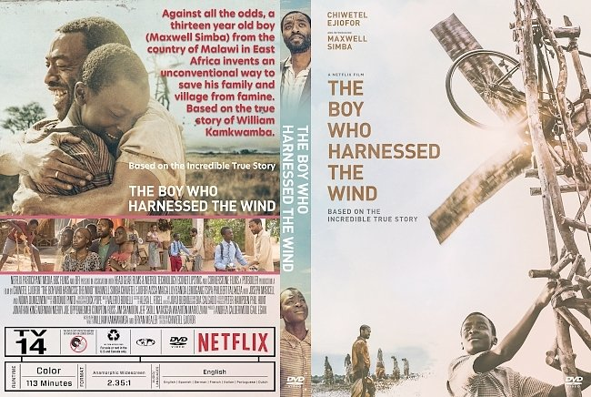 dvd cover The Boy Who Harnessed the Wind DVD Cover