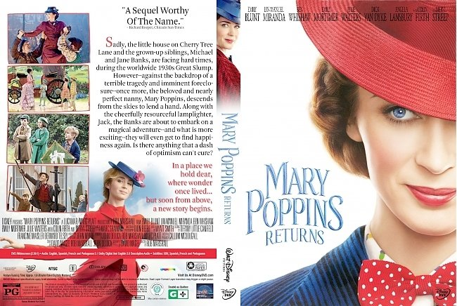 dvd cover Mary Poppins Returns DVD Cover