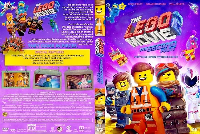 dvd cover The Lego Movie 2: The Second Part DVD Cover