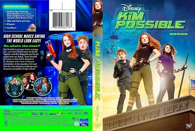 dvd cover Kim Possible (2019) DVD Cover