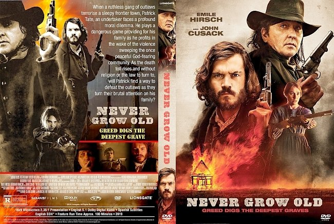 dvd cover Never Grow Old DVD Cover