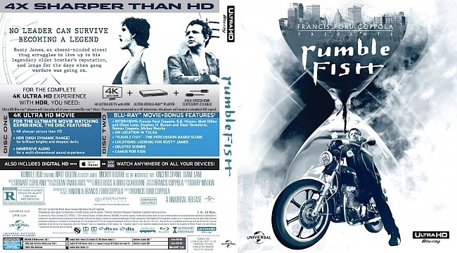 dvd cover Rumble Fish Bluray Cover