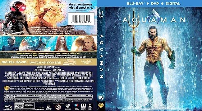 dvd cover Aquaman Bluray Cover