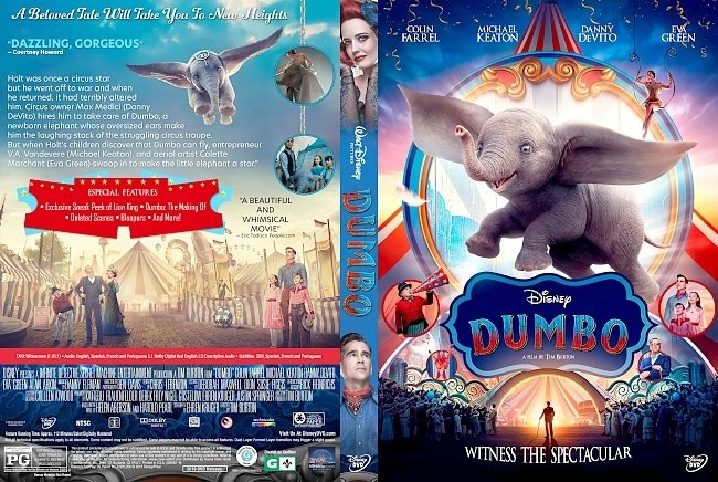 dvd cover Dumbo (2019) DVD Cover